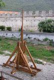 Trabucco. Medieval weapon of war for destroy the castles Royalty Free Stock Photos