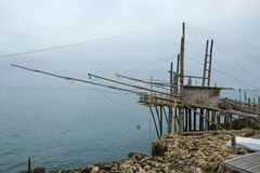 A trabucco in Puglia (Italy) Stock Image