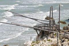 Trabucco. Rodi Garganico. Puglia. Itália. foto de stock royalty free