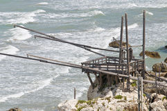 Trabucco. Rodi Garganico. Puglia. Italy. Royalty Free Stock Photo