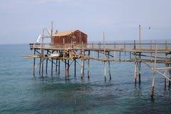 Trabucco-trabocco in Termoli Campobasso Italien lizenzfreies stockbild