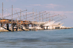 Trabucco, trebuchet, trabocco - traditional fishing houses in It Stock Images