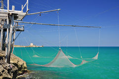 Trabucco, typical italian fishing machine Stock Photo