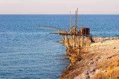 Trabucco - unità di pesca Fotografia Stock