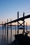 Trabucco, vieille machine de pêche Photographie stock libre de droits