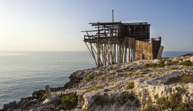 Trabucco of Vieste - Peschici, Gargano Stock Photos