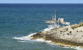 Trabucco of Vieste - Peschici, Gargano Royalty Free Stock Photo