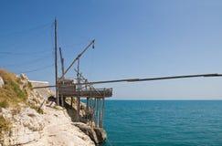 Trabucco. Vieste. Puglia. Italy. Royalty Free Stock Photography