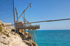 Trabucco. Vieste. Puglia. Italy. Royalty Free Stock Images