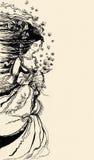 Tracé l'illustration d'une allégorie femelle d'été illustration libre de droits