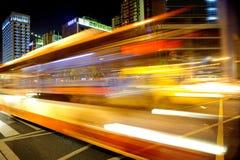 Tracce ad alta velocità e vaghe dell'indicatore luminoso del bus Immagini Stock