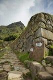 Tracce all'interno dell'area di Machu Picchu immagini stock libere da diritti