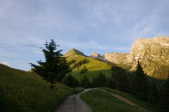 Tracce alpine Immagini Stock Libere da Diritti