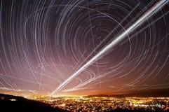 Tracce del cielo del San Jose Fotografia Stock