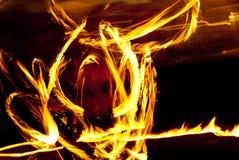Tracce del fuoco Fotografia Stock