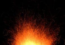 Tracce del fuoco immagini stock