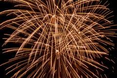 Tracce del fuoco d'artificio nel cielo Immagine Stock Libera da Diritti
