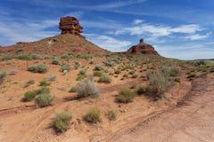Tracce del paese nello stato USA dell'Utah Immagini Stock
