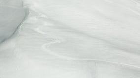 Tracce del pattino nella neve Fotografia Stock Libera da Diritti