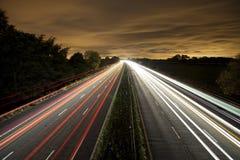 Tracce del semaforo Fotografia Stock