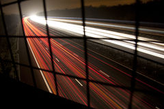 Tracce del semaforo Immagine Stock