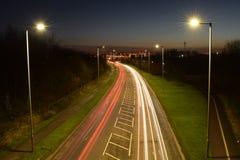 Tracce del semaforo Fotografia Stock Libera da Diritti