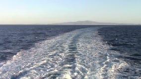 Tracce del traghetto stock footage