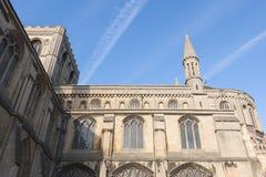 Tracce del vapore e della cattedrale Immagini Stock Libere da Diritti