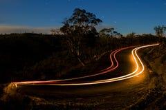 Tracce dell'indicatore luminoso dell'automobile Fotografia Stock