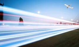 Tracce della luce Fotografie Stock