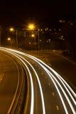 Tracce della luce dell'automobile Fotografia Stock Libera da Diritti
