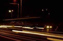 Tracce della luce dell'automobile Fotografia Stock