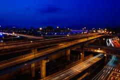 Tracce della luce delle automobili Immagine Stock Libera da Diritti