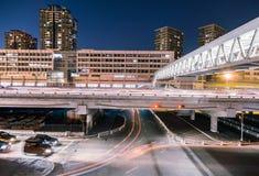 Tracce della luce sulle giunzioni di traffico Immagine Stock Libera da Diritti