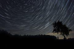 Tracce della stella Fotografie Stock