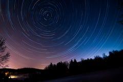 Tracce della stella Fotografia Stock
