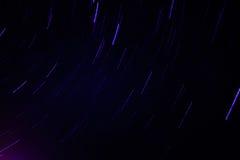 Tracce della stella Fotografie Stock Libere da Diritti