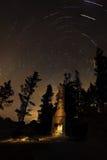 Tracce della stella della spiaggia del camino, il lago Tahoe, Nevada Fotografie Stock Libere da Diritti