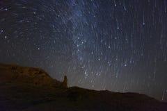 Tracce della stella sull'isola del PAG, Croazia Fotografia Stock Libera da Diritti