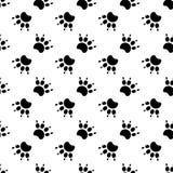 Tracce di Cat Textile Pattern Vettore senza giunte Fotografia Stock Libera da Diritti