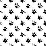 Tracce di Cat Textile Pattern Vettore senza giunte Fotografie Stock