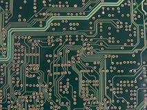 Tracce di circuito e Vias immagini stock