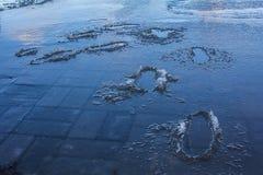 Tracce di ghiaccio fotografie stock