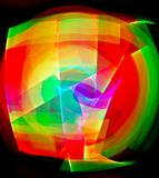 Tracce di luce Fotografia Stock