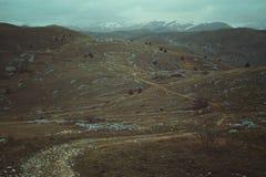 Tracce di montagna desolate fotografie stock libere da diritti
