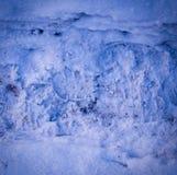 Tracce di orme di vantaggio sulla struttura della neve con la scenetta fondo, stagionale fotografia stock libera da diritti
