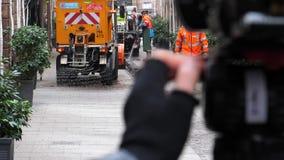 Tracce di pulizia del sangue del gruppo francese di servizi pubblici di attacchi terroristici archivi video