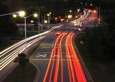 Tracce di traffico Immagini Stock