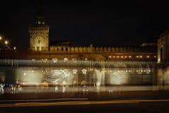 Tracce di traffico dell'Italia di Bologna Fotografia Stock