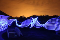 Tracce lunghe della luce di esposizione Fotografie Stock Libere da Diritti